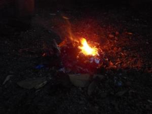 Ibu Pertiwi membakar sampah